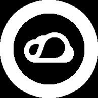 Icono Kumobe nube blanca redonda