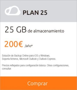 Kumobe backup plan 25gb